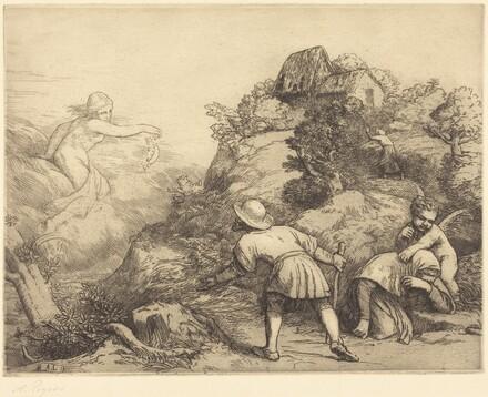 Allegory of the Peasant and Fortune (Le paysan et la fortune: Sujet allegorique