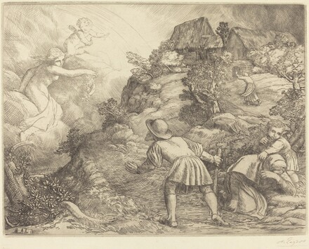 Allegory of the Peasant and Fortune (Le paysan et la fortune: Sujet allegorique