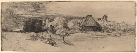 Landscape with Trees, Farm Buildings and a Tower