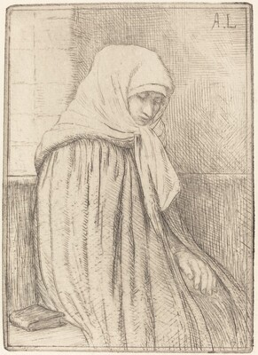 Young Peasant Seated in a Church (Jeune paysanne assise dans une eglise)