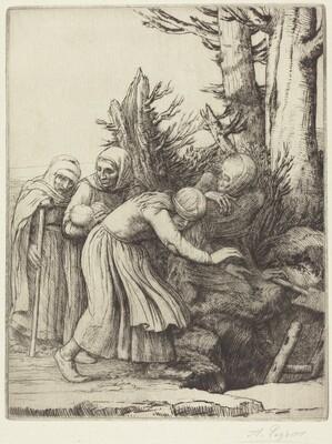 The Triumph of Death: Death Prepares a Dwelling for the Homeless (Le triomphe de la Mort: Lamort a prepare une demeure a des abandonnees)