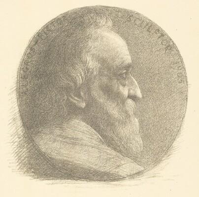 Self-Portrait, Medallion, No.1, 9th plate