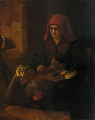 Old Woman Plucking a Fowl