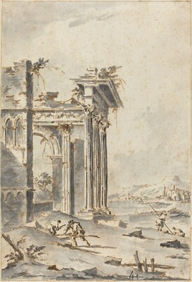 Capriccio of Classical Ruins on a Shore