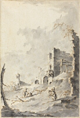 Capriccio of Classical Ruins with a Fortress