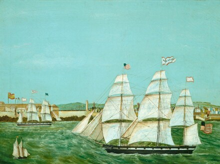 Ship Arkansas Leaving Havana