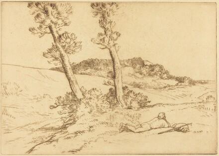 Traveler Reclining on the Grass (Le voyageur etendu sur le gazon)