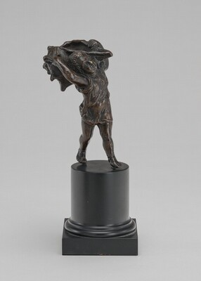 Inkwell in the Form of a Child Carrying a Shell
