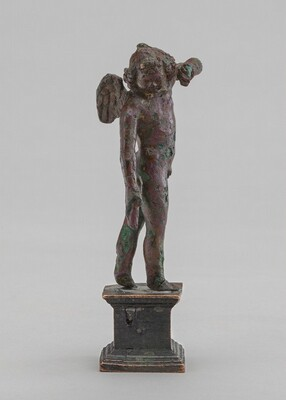 Winged Child Carrying a Torch