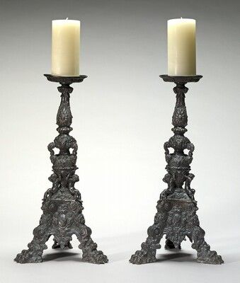 Altar-Candlestick with Shield of Arms of the Garzoni of Venice