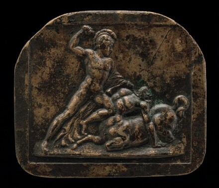 A Warrior Fighting a Centaur