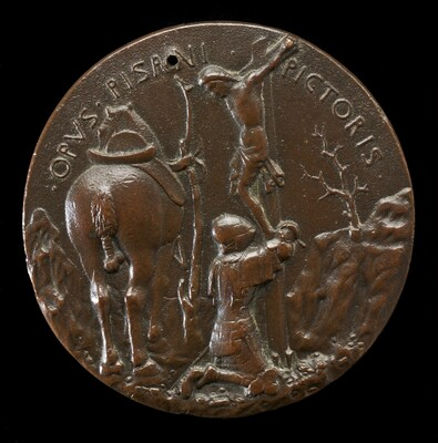 Malatesta in Armor, Kneeling Before a Crucifix [reverse]