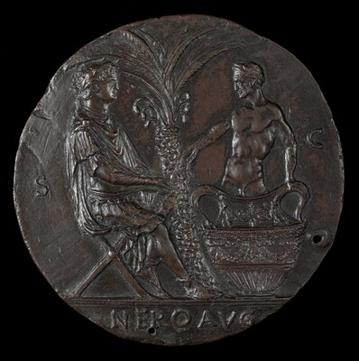 Nero, Laureate, Seated Under Palm Tree [reverse]