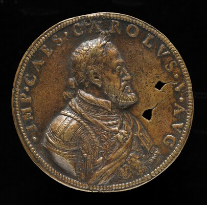 Charles V, 1500-1558, King of Spain 1516-1556, Holy Roman Emperor 1519 [obverse]
