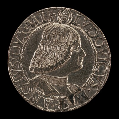 Lodovico Maria Sforza, called il Moro, 1451-1508,  7th Duke of Milan 1494-1500 [obverse]