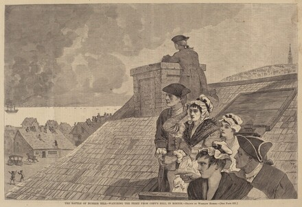 The Battle of Bunker-Hill - Watching the Fight from Copp's Hill, in Boston