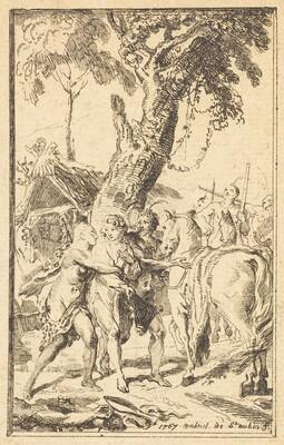 Flight of M. de Belle-Isle, Prisoner with theAttakapas [right]