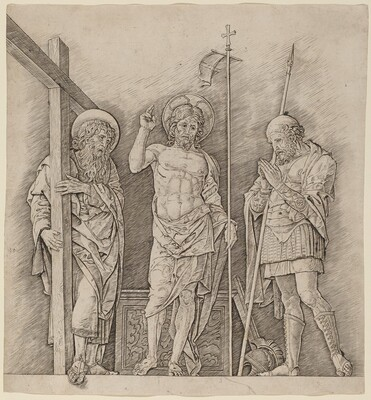 Risen Christ between Saints Andrew and Longinus