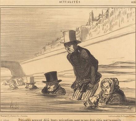 Parisiens prenant... leurs précautions...