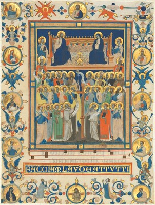 Christ and the Virgin Enthroned with Forty Saints