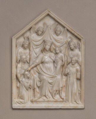 Madonna and Child with Queen Sancia, Saints and Angels