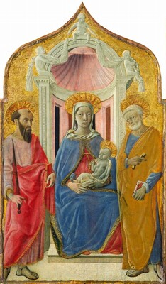 Madonna and Child Enthroned with Saint Peter and Saint Paul