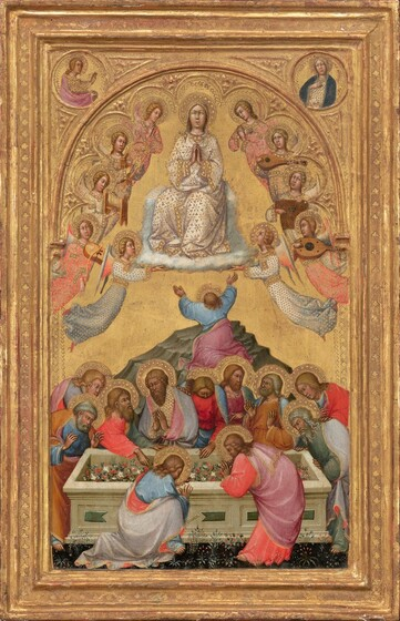 The Assumption of the Virgin with Busts of the Archangel Gabriel and the Virgin of the Annunciation