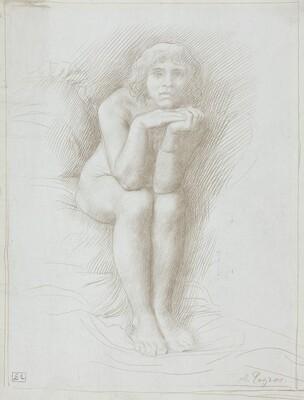 Nude Model Seated