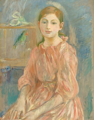 The Artist's Daughter with a Parakeet