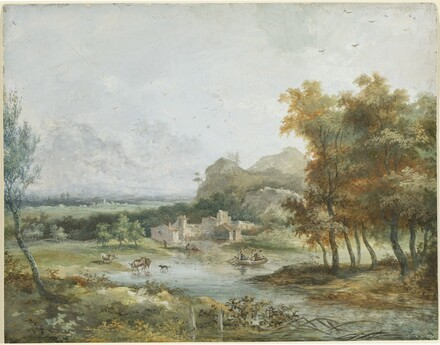 Italian Landscape with a Boating Party