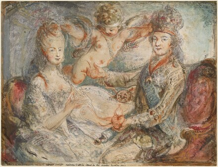 Louis XVI and Marie-Antoinette Crowned by Love