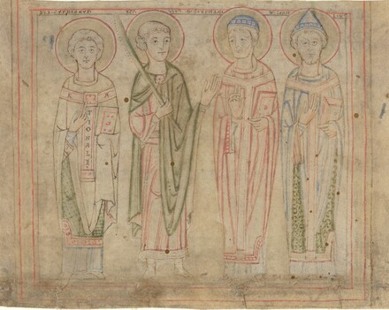 Saints Cyprian, Vitus, Stephan, and Cornelius