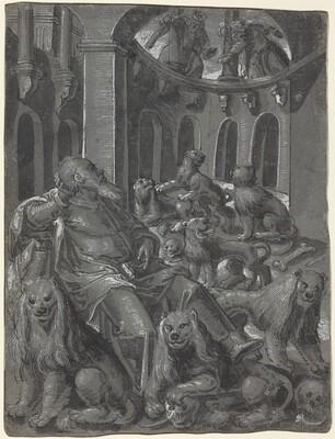 Daniel in the Lions' Den [recto]