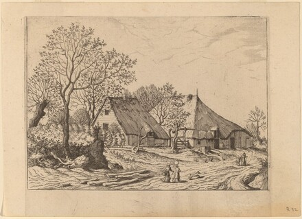 Farm with Shed and Draw Well
