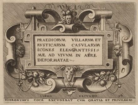 Title Page for Praediorum Villarum