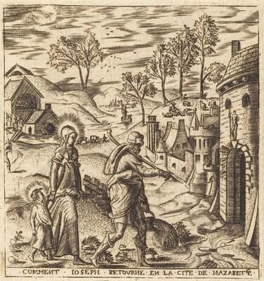 Joseph, Mary and Jesus Returning to Nazareth