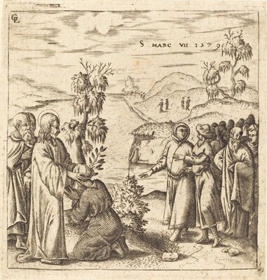 Christ Healing a Deaf Man
