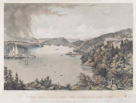 Hudson River Portfolio: Looking South from Battery Knox, West Point