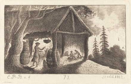 The Shed with Children Fighting
