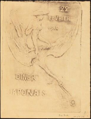 Femme et Cygne, 22 fevrier 1912, Diner Japonaise (Woman and Bird, 22 February 1912, J
