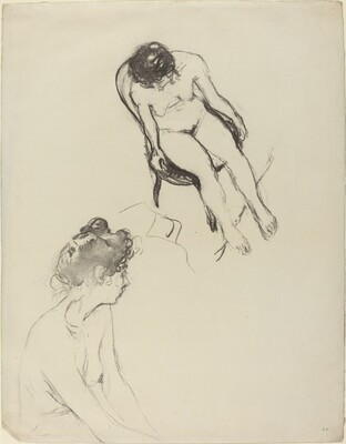 Two Nude Figure Studies