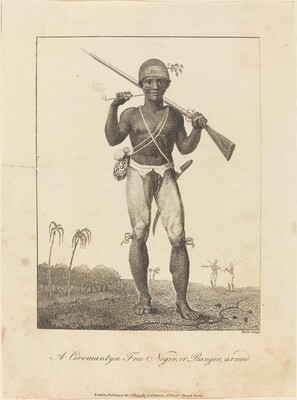 A Coromantyn Free Negro, or Ranger, armed