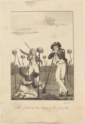 The Sculls of Lieut Leppar, & Six of his Men
