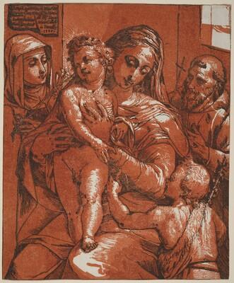 Madonna and Child Accompanied by Saints