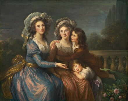 The Marquise de Pezay, and the Marquise de Rouge with Her Sons Alexis and Adrien