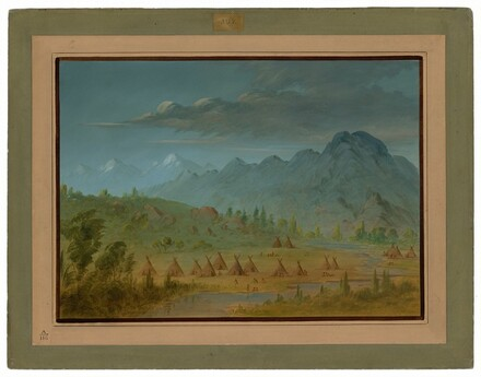 A Crow Village and the Salmon River Mountains