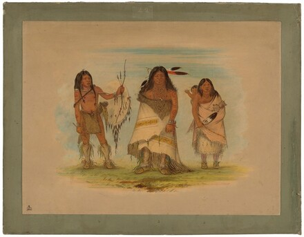 Camanchee Chief, His Wife, and a Warrior