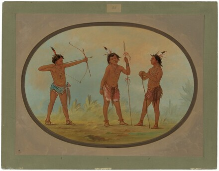 Three Shoshonee Warriors Armed for War