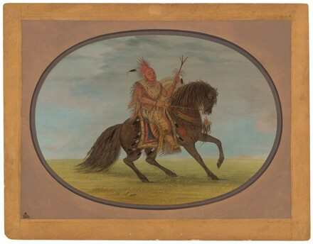 The Running Fox on a Fine Horse - Saukie