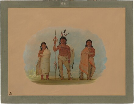 Ottowa Chief, His Wife, and a Warrior